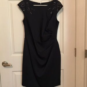 Navy Blue Cocktail Dress by Adrianna Papell